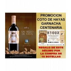 Vino COTO DE HAYAS Garnacha Centenaria 18 Bot. - Bodegas Aragonesas