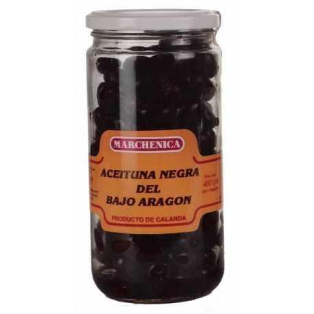 Aceitunas Negras de Aderezo de Calanda (Bajo Aragón) -MARCHENICA- 480g