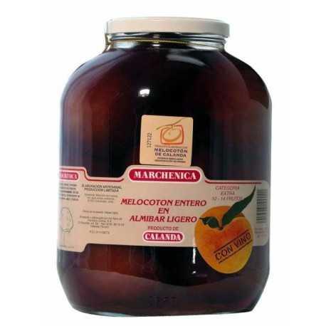 Melocotón 10-14 Frutos de Calanda D.O. en Almíbar con Vino - MARCHENICA -