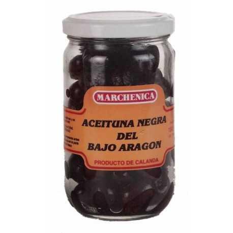 Aceitunas Negras de Aderezo de Calanda (Bajo Aragón) -Marchenica- 200g