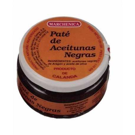 Paté de Aceitunas Negras de Aderezo de Calanda (Bajo Aragón)  Marchenica220g