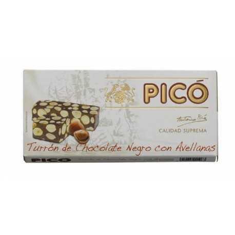 PICO 66 Turrón de Chocolate con Avellanas (38%) Calidad Suprema 250 g.