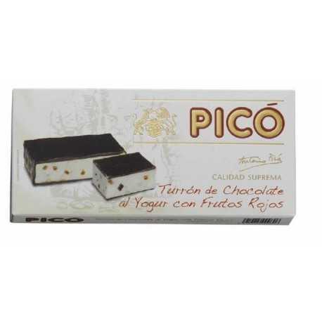 PICÓ 66 Turrón de Chocolate al Yogur con Frutos Rojos Calidad Suprema 200 g.